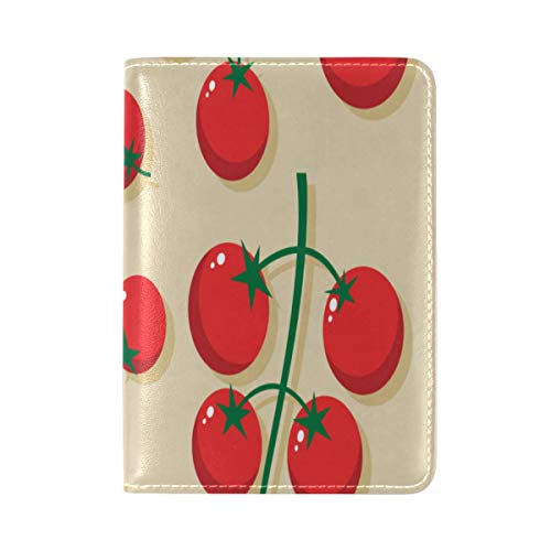 Passport Cover Case Small Tomato Fruit And Vegetable Cool Leather&microfiber Multi Purpose Print Passport Holder Travel Wallet For Women And Men 5.51x3.94 ()