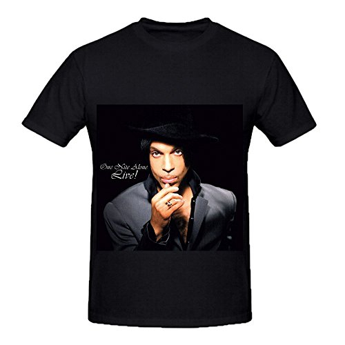 Prince One Nite Alone 80s Mens Round Neck DTG Shirts Black