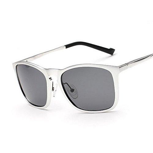 Color Hombre polarizadas Sol Yxsd SunglassesMAN de La Gafas UV Plata de 400 Protección Aviator Marco Brown para Oqxn4nw