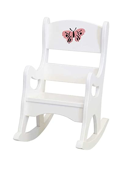 Tremendous Buy Childrens Kids Maple Rocker Play Furniture White Paint Andrewgaddart Wooden Chair Designs For Living Room Andrewgaddartcom