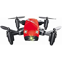 Startview S9 Altitude Hold 0.3MP HD Camera 6-Axis Foldable WIFI RC Quadcopter Pocket Drone (Red)
