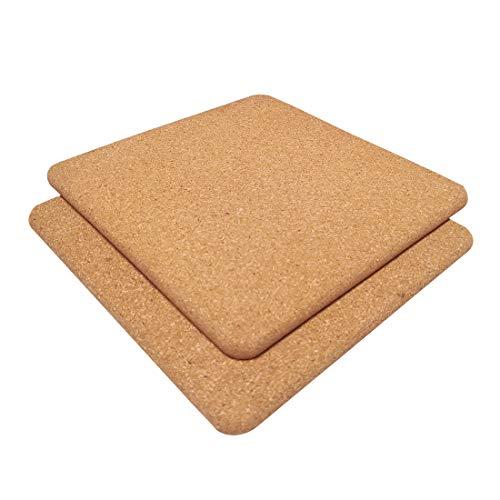 Cork Trivets (Kitchen Heat Mat), Square Trivet, Hot Pot Holder, Pads for Kitchen,7.7-Inch Each (2, Square-7.7-Inch)