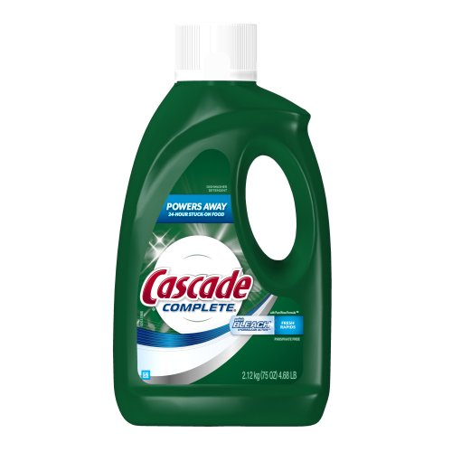 Cascade Done All-in-1 Gel Dishwasher Detergent with Bleach Hydroclean Action, Fresh Rapids Scent, 75 Ounce Bottles (Pack of 6)