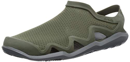 crocs Herren Swiftwater Mesh Wave M Clogs, Black Slate Grey