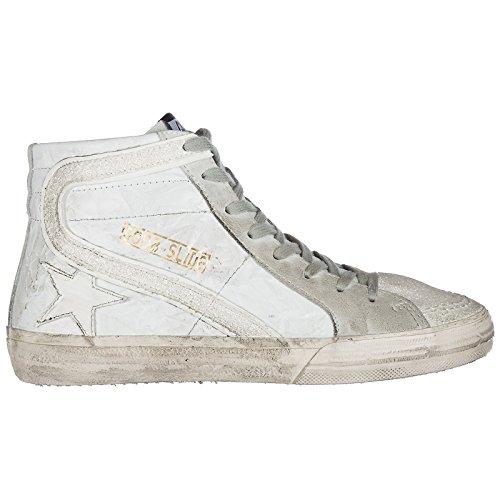 Sneakers Hautes Goose Femme en Cuir Golden Baskets Slide Blanc Chaussures qwUdtnI