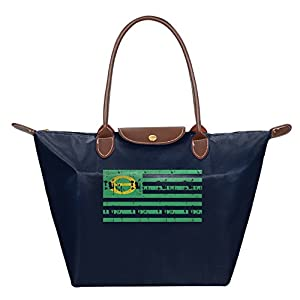 EJudge Vintage The Ecology Flag Fashion Waterproof Nylon Folding Shoulder Tote Bags