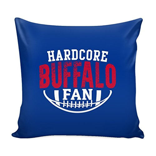 Hardcore Buffalo Football Fan Throw Pillow Sham Cover (A) ()