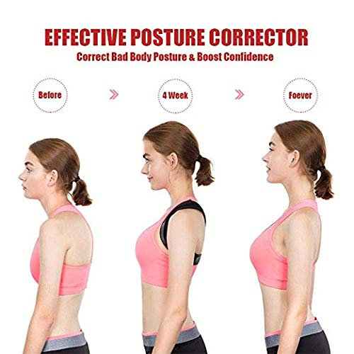 Posture Corrector for Women and Men - Effective Upper Back Brace for Clavicle Support - Corrects Slouching, Hunching & Bad Posture