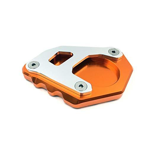 Ocamo Reposapiés Placa de extensión del Soporte Lateral Kickstand CNC para KTM 1050 1090 1190 1290 Adventure Plata Superior...