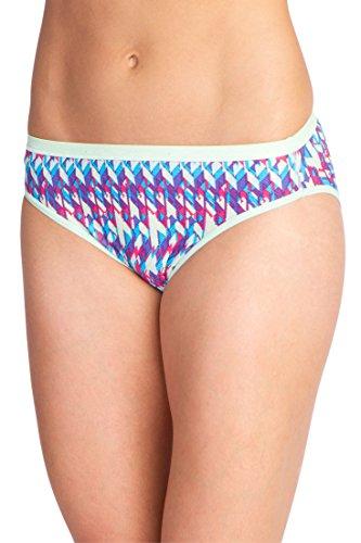 ExOfficio Women's Give-N-Go Printed Bikini Brief, Mojito/Spliced Geo, Large