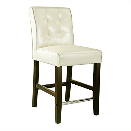 Amazoncom Atlin Designs 25 Bonded Leather Counter Stool In Cream