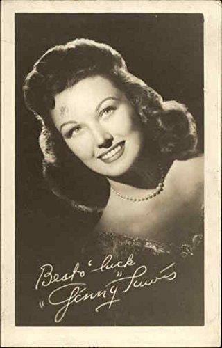 Signed Original Actress - Signed Photograph of Ginny Lewis Actresses Original Vintage Postcard