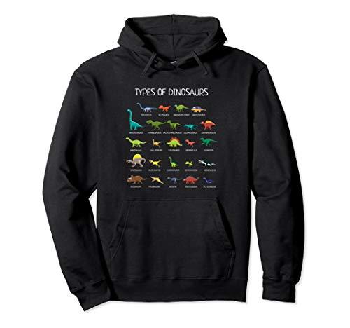 Types Of Dinosaurs Hoodie -