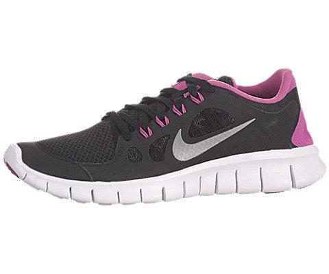 NIKE Youth Free 5.0 Training Shoe Black/Pink/Silver Size 5.5