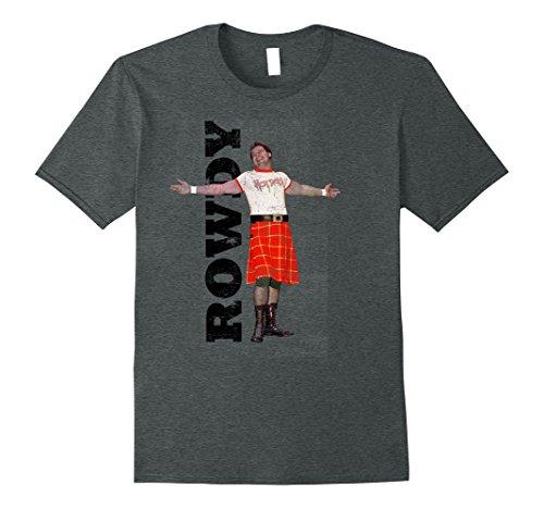 Mens WWE Rowdy Roddy Piper Vintage Distressed T-Shirt 3XL Dark Heather (Roddy Rowdy Piper)