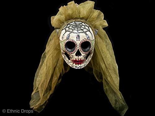 Venetian mask, dead bride mask, Day of the dead mask, death costume mask, Dia de los muertos, skull mask, sugar skull, death mask