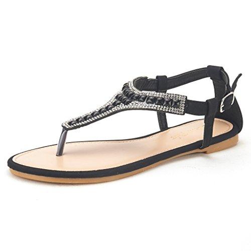 Dream Pairs Kareo Women S Summer Casual Wear Rhinestone