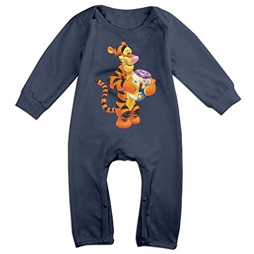 Newborn Piglet Costumes (Dadada Boy's & Girl's Cute Tigger Long Sleeve Bodysuit 18 Months)