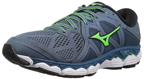Mizuno Men's Wave Sky 2 Running Shoe Mirage/Evening Blue, 12.5 D US (Best Mizuno Running Shoes For Flat Feet)