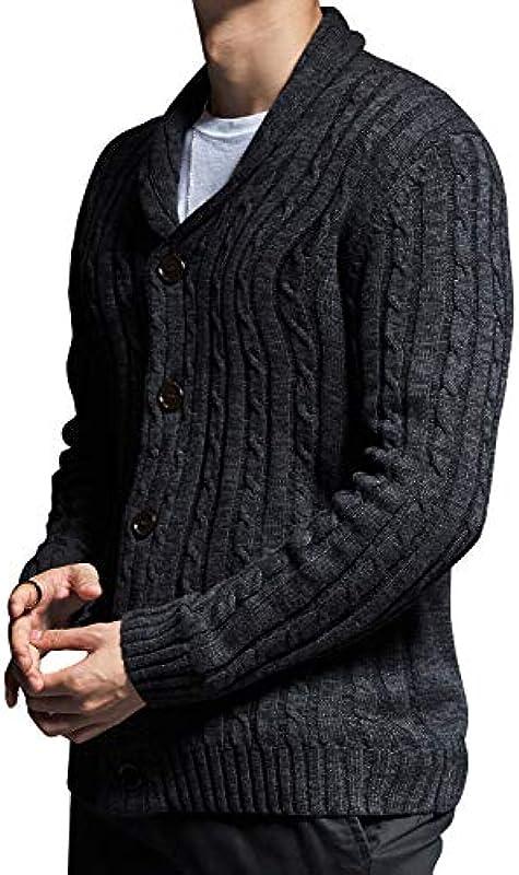 Fitlife męska kurtka ze stÓjką, kardigan, z dekoltem w serek, krÓj slim fit, przejściowa kurtka na czas wolny: Odzież