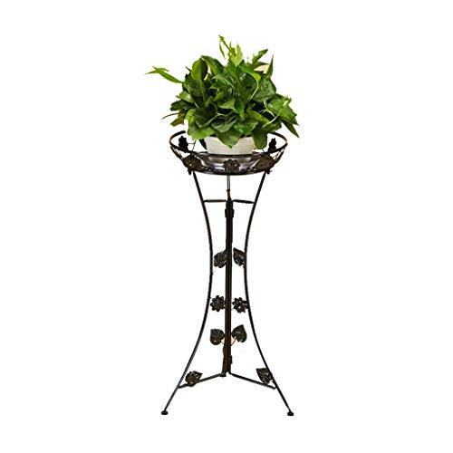 (Leinsy Simple Flower Frame Wrought Iron Multi-Layer Balcony Living Room Floor Flower Pot Rack Indoor Green Radish Hanging Orchid Frame CM-79 (Black))