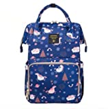 Waterproof Diaper Bag Nappy Bag Travel Backpack Multi-Function Mommy Bag for Baby Care Large Capacity Stylish and Durable Perfect for Travel Work or Outing (Blue Dream Sky)