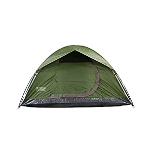 Osage River Glades Portable Backpacking Tent (2-Person or 4-Person Family Tent Options) (Olive / Beige 2-Person Tent)