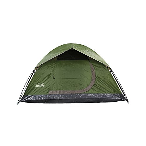 Osage River Glades Portable Backpacking Tent (2-Person or 4-Person Family Tent Options) (Olive/Beige 2-Person Tent)