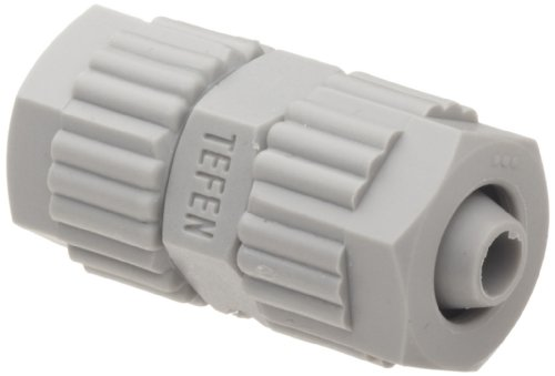Tefen Fiberglass Polypropylene Compression Tube Fitting, Union, Gray, 1/2