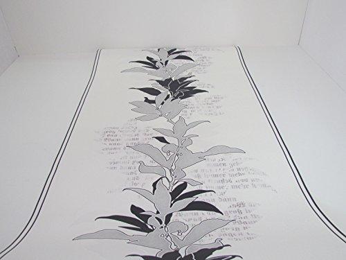 Erismann Vliestapete weiss mit schwarz silbernen Ornamenten 6792-15