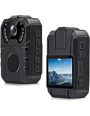 CamMHD 1296P camera voor Pionier, waterdicht, IP67, HD, groothoek, 170 graden, draagbaar, professioneel, nachtzicht, infrarood bewegingsdetectie, 32 GB