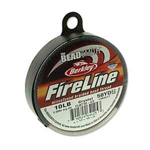 FireLine Braided Beading Thread 10lb CLEAR .010 In 50 ()