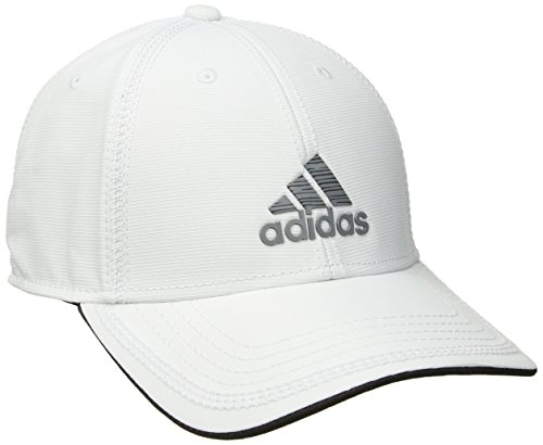 White Structured Adjustable Hat - adidas Men's Contract II Structured Adjustable Cap, White/Grey Lo Stripe Print, One Size