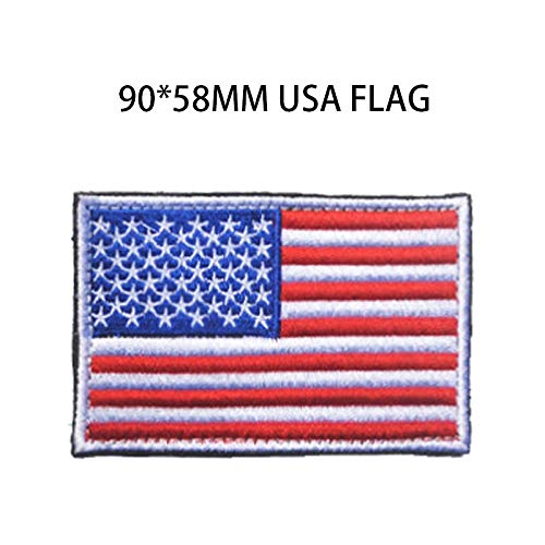 Fabric Embroidered 9058mm USA Flag Army 3D Tactical Military Patches USA Flag Cloth Armband United States Flag Badges ()