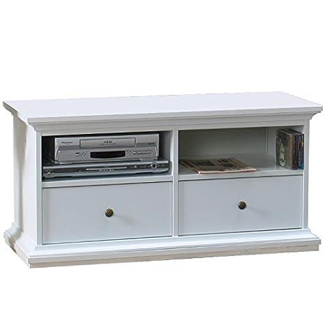 Fernseher-Tisch TV-Board Lowboard Fernsehschrank Fernsehtisch Kommode Bank Holz