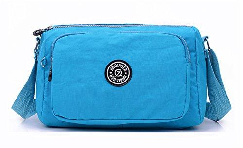 Women's Water U1 Small Nylon body Shoulder Bag Resistant Fabric Lightweight TianHengYi Blue Sky Messenger Cross Bag nOaxBOw