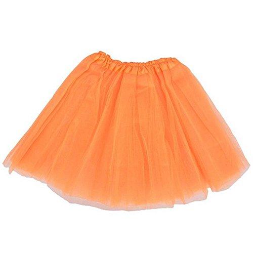 Top Rated Classic Elastic Ballet-Style Adult Tutu Skirt, by BellaSous. Great princess tutu, adult dance skirt, petticoat skirt or pettiskirt tutu for women. Tulle fabric - Orange (Cheap Dance Costumes)
