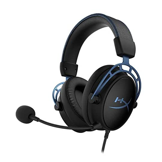 HyperX Cloud Alpha S – PC Gaming Headset, 7.1 Surround Sound, Adjustable Bass, Dual Chamber Drivers, Chat Mixer…