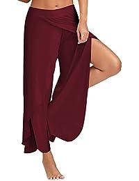 Women Casual High Slit Layered Loose Palazzo Lounge Pants