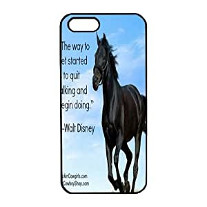 iPhone 5 pc black Case Unique design and high quality protective iPhone 5 with horse