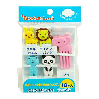 Food Picks & Forks / Bento Decoration (Animals) 10 Pcs.
