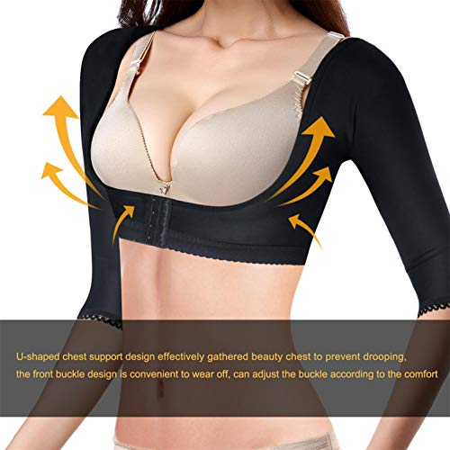 c8e8925de4 BRABIC Upper Arm Shaper Post Surgical Slimmer Compression Sleeves Humpback  Posture Corrector Tops Shapewear for Women at