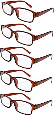b45a059b54 4sold Gafas de Lectura Presbicia Vista Cansada - (Pack 5) Graduadas fde 0.5  Dioptrías Montura de Pasta Azul Marrón Negra Carey Diseño Moda Hombre Mujer  ...