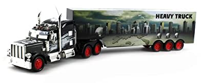 Heavy City 12 Semi Electric RC Truck Full Cargo Trailer 1:36 Scale RTR Ready To Run, Rechargeable