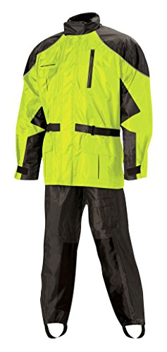 Nelson Rigg Unisex Adult AS-3000-HVY-04-XL Aston Motorcycle Rain Suit 2-Piece, (Hi-Visibility Yellow, X-Large)