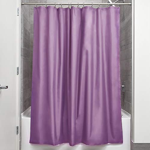 InterDesign Mildew-Free Water-Repellent Fabric Shower Curtain, 72-Inch by 72-Inch, ()