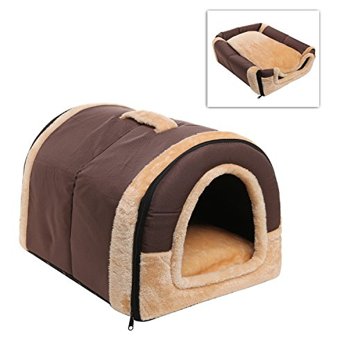 Soft Dog Bed (Brown) - 5
