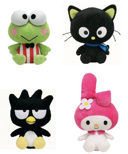 Chococat, My Melody, Badtz-Maru, Keroppi - Sanrio Hello Kitty Set of 4 TY Beanie Babies - 6