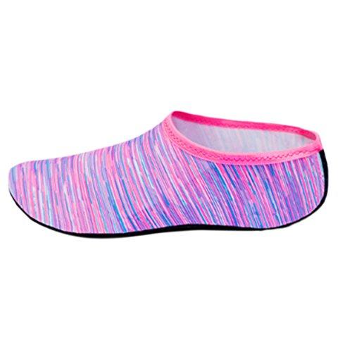 Stripes Shoes Barefoot Closet Socks Fantasy Unisex Water Exercise Pink Aqua Beach f0wZawq