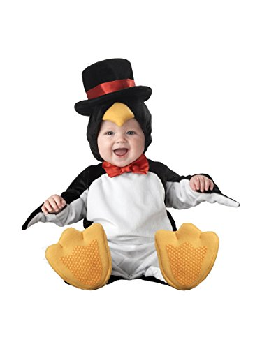 InCharacter Costumes Baby's Lil' Penguin Costume, Black/White/Yellow, Small - Baby Animals In Costumes